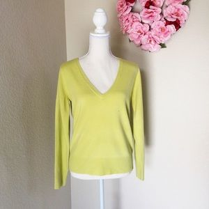 🌸🌿ZARA🌿🌸Chartreuse long sleeve sweater, M